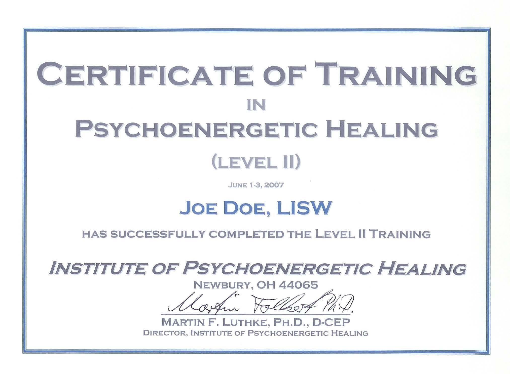 Doc580688 Training Certificate Format 6 Free Training – Sample Training Certificate